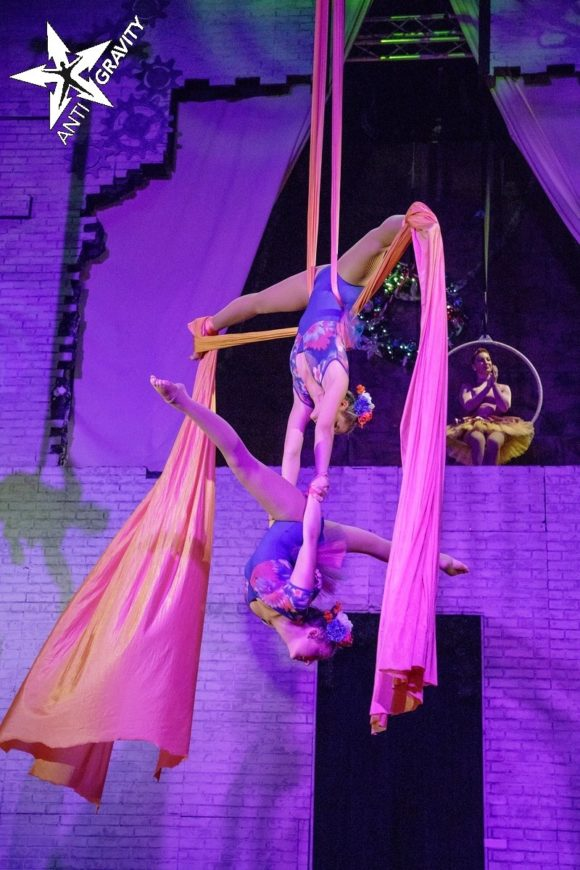 Duo Aerial Act (Available using Trapeze, Straps or Silk)