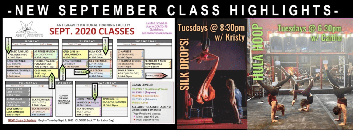 NEW CLASSES HIGHLIGHTS: Hula Hoop & Silk Drops!