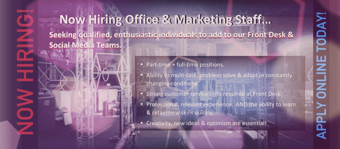 NOW HIRING OFFICE STAFF!!